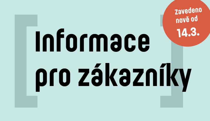 Informace pro zákazníky